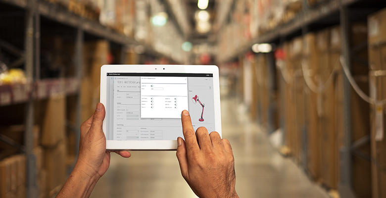 Tech Trade Essentials - app in warehouse