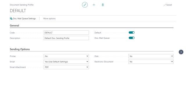 Document Mail Queue - Document Sending Profile