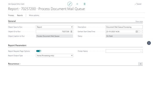 Document Mail Queue Process - Job Queue