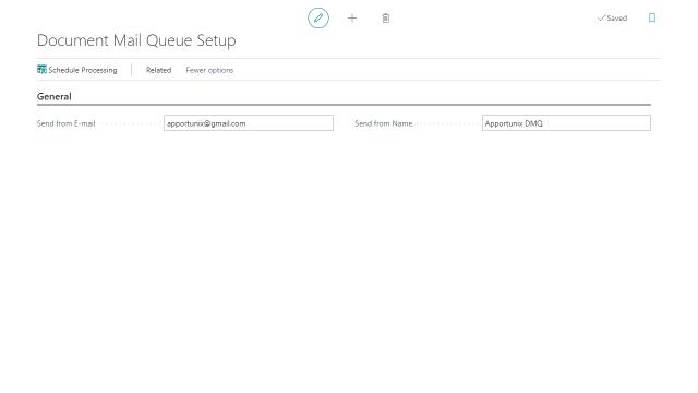 Document Mail Queue Setup