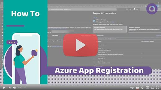Video Azure App registration