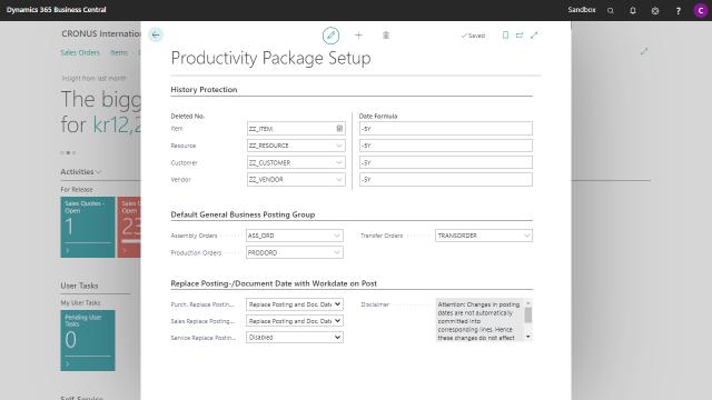 App Productivity Package - Setup